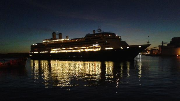 A cruise liner entering the Grand Harbour in Valletta. Photo: Noel Debattista