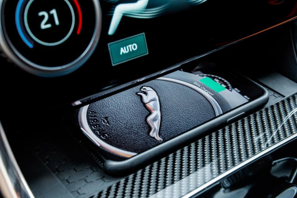 The new Jaguar XE's modern interior.