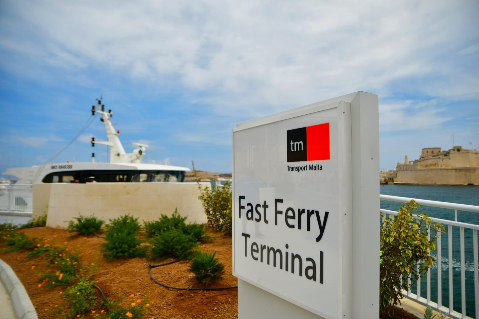 Ceremony of the Fast Ferry terminal on Tuesday Photo: Jonathan Borg