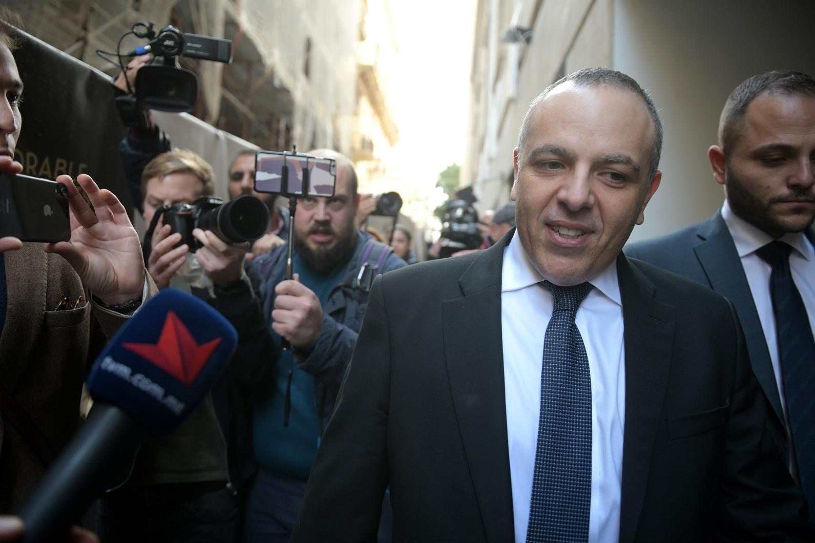 Keith Schembri outside court in December.