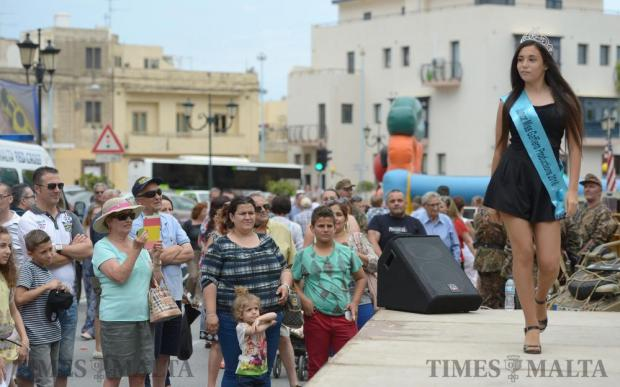 A girl models on stage during the Fish Festival in Zurrieq on June 5. Photo: Matthew Mirabelli