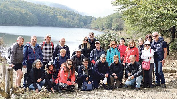 Seen here are Birdlife Malta members at Lago Maulazzo with Dr Anna Giordano (squatting, fourth from right).