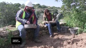 Watch: Hippo, elephant and wolf bones found while digging for a trail    Excavation works near Ghar Dalam to create a new trail are ongoing. Video: Matthew Mirabelli