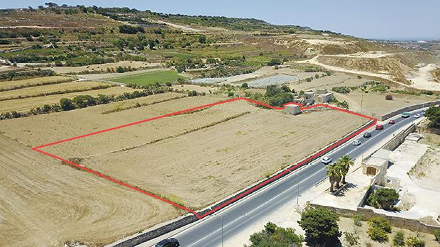 An image of one site outside Mġarr earmarked for a petrol station, from the application submitted by the architect.