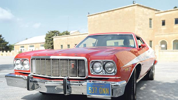 A replica of the Ford Gran Torino used in Starsky and Hutch.