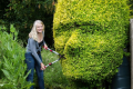 Proud mother cuts 12ft hedge into shape of son's face