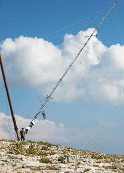 An 80-metre wind monitoring mast erected in l-Aħrax tal-Mellieħa last November.