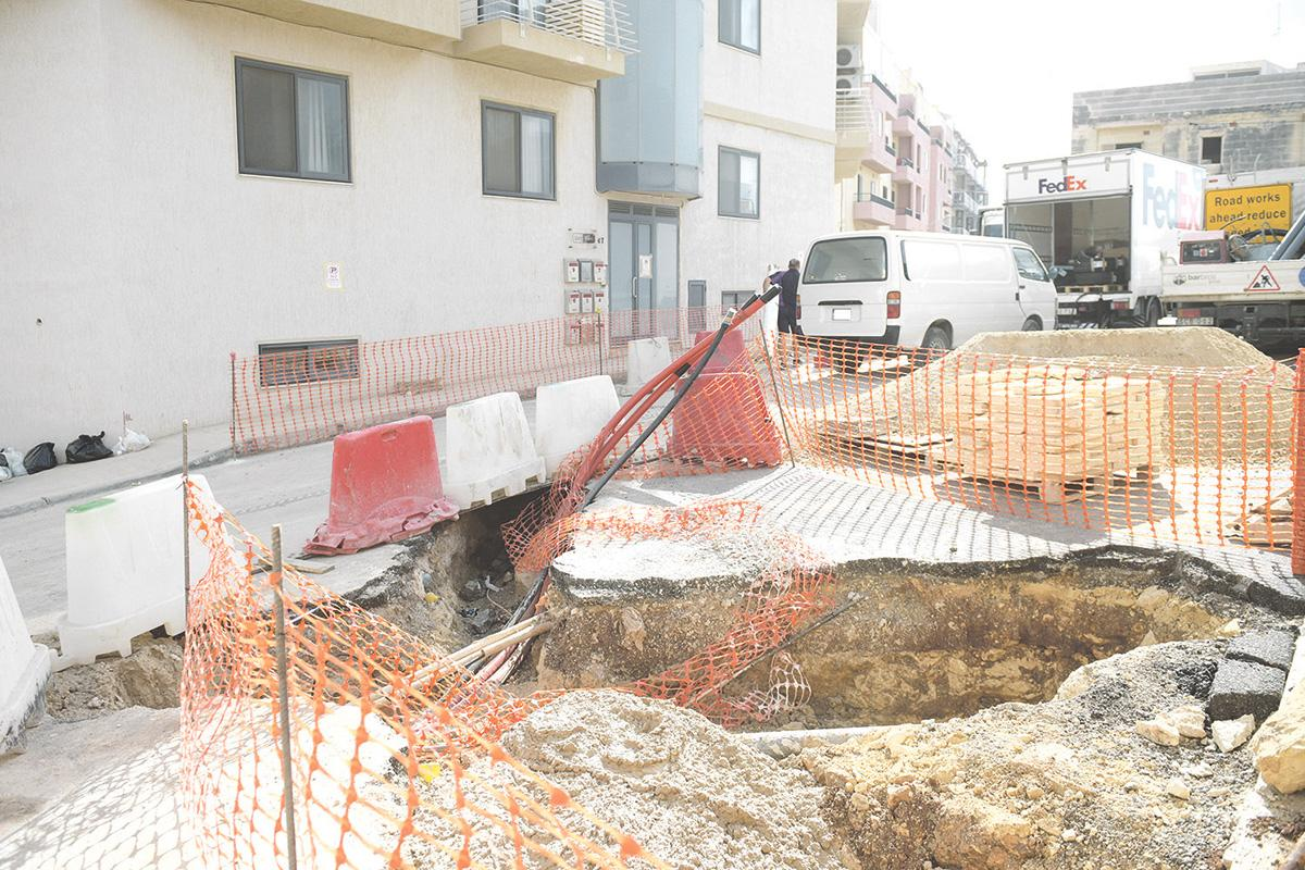 Brand new Msida street dug up again after just three months