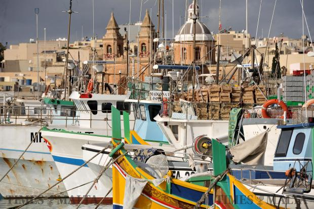 Fishing boats tied up in Marsaxlokk harbour on December 28. Photo: Chris Sant Fournier