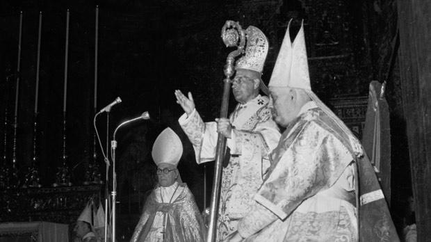 The Church, headed By Archbishop Michael Gonzi, had an impact on the political climate in the run-up to Malta's independence. Photos: DOI