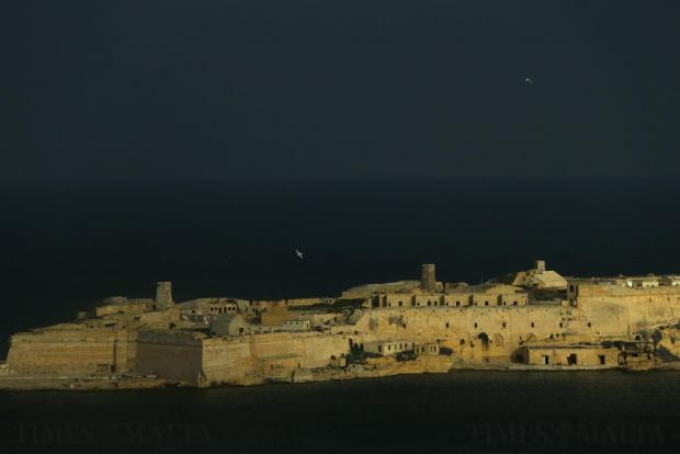 Seagulls fly over Valletta's Grand Harbour as stormy weather approaches on November 15. Photo: Darrin Zammit Lupi
