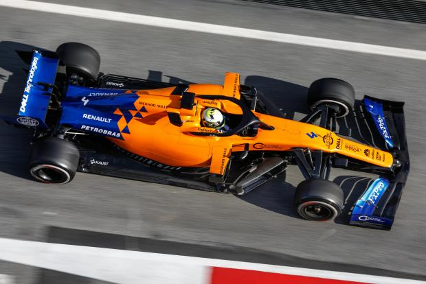 Lando Norris clocked the fastest time of the day on his McLaren.