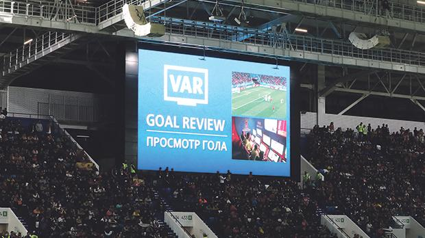FIFA is showing the VAR process live on big screens at the  stadiums during this World Cup.