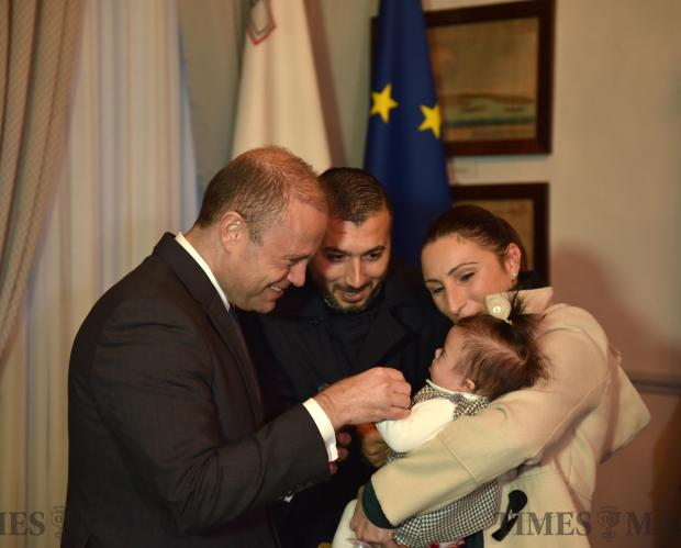 Prime Minister Joseph Muscat meets members of the public at Castile in Valletta during the annual festive greetings on December 27. Photo: Mark Zammit Cordina