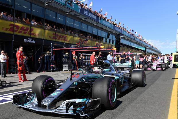 Mercedes' Lewis Hamilton before the race.