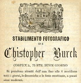 A 19th century advert by the rare photographer Christopher Burck from Cospicua. Courtesy the National Library