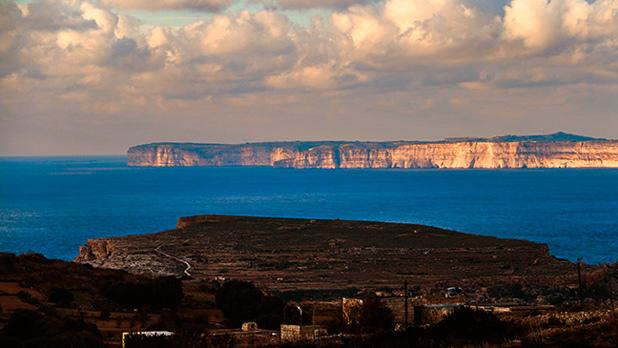 Gozo in the distance as seen from Baħrija. Photo: Adrian Farrugia