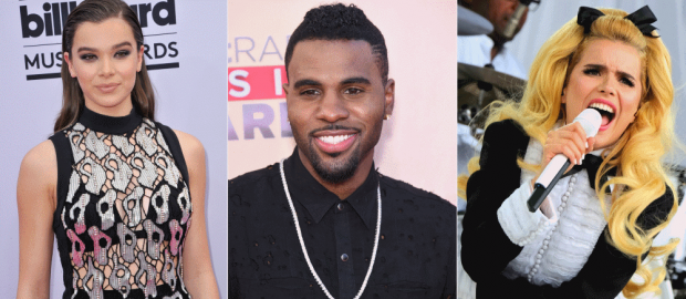 Hailee Steinfeld, Jason Derulo and Paloma Faith will all be performing. Photos: Shutterstock