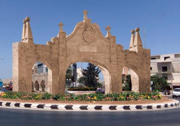 A montage of how the new arch will look.