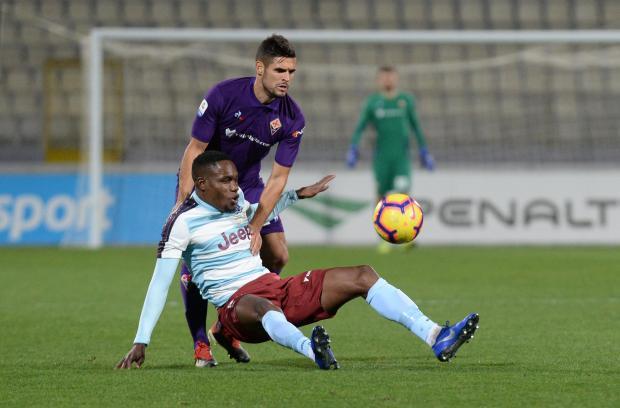 Fiorentina's Vincent Laurini pulls down Justin Mengolo of Gżira United. Photo: Matthew Mirabelli