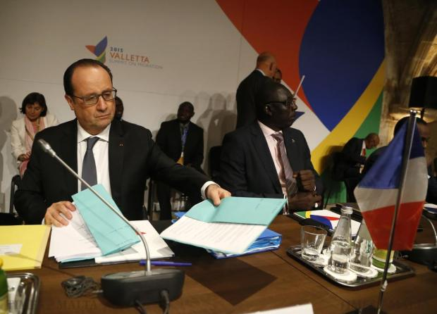 French President Francois Hollande attends the Valletta Summit on Migration at the Mediterranean Conference Centre in Valletta on November 12. Photo: Darrin Zammit Lupi