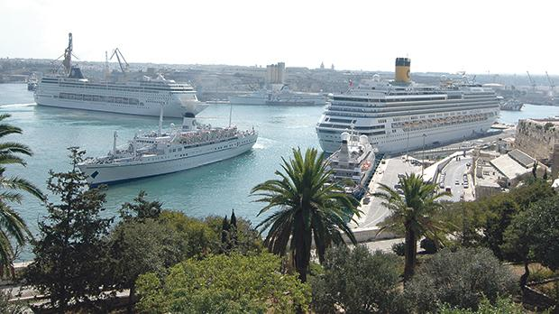 Ships entering Maltese ports are asked to declare which fuel they are using. Photo: viewingmalta.com