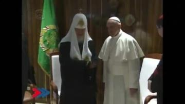 Pope and  Russian Orthodox Patriarch hold historic meeting in Cuba