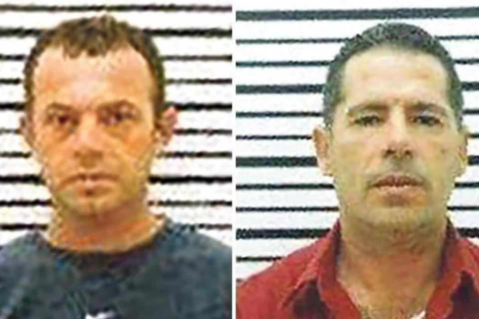 A court heard claims Alfred Degiorgio (left) was paid €350,000 by economy minister Chris Cardona. Along with his brother George, he is accused of murdering Daphne Caruana Galizia