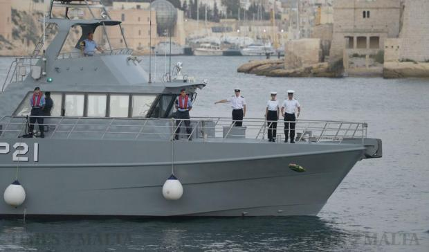 Members of the Sea Cadets throw a wreath into the sea during a commemoration ceremony for Operation Pedestal – the do-or-die attempt by a convoy of 13 freighters and a tanker to deliver supplies to starving Malta and Gozo – the Santa Marija convoy, at Ta' Liesse, Valletta on August 11. The convoy had been escorted by the most powerful fleet assembled for any single supply convoy operation of World War II. Only five ships reached Malta after a fierce battle along the route from near Gibraltar to Malta. Photo: Matthew Mirabelli