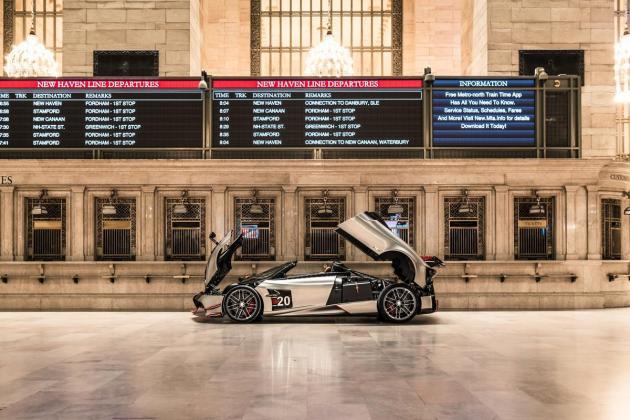 Pagani showcased at Grand Central Terminal