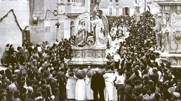 The feast at Balzan on April 24, 1949.