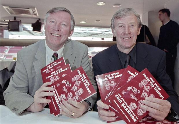 Sir Alex Ferguson (left) with former Man. United youth coach Eric Harrison.