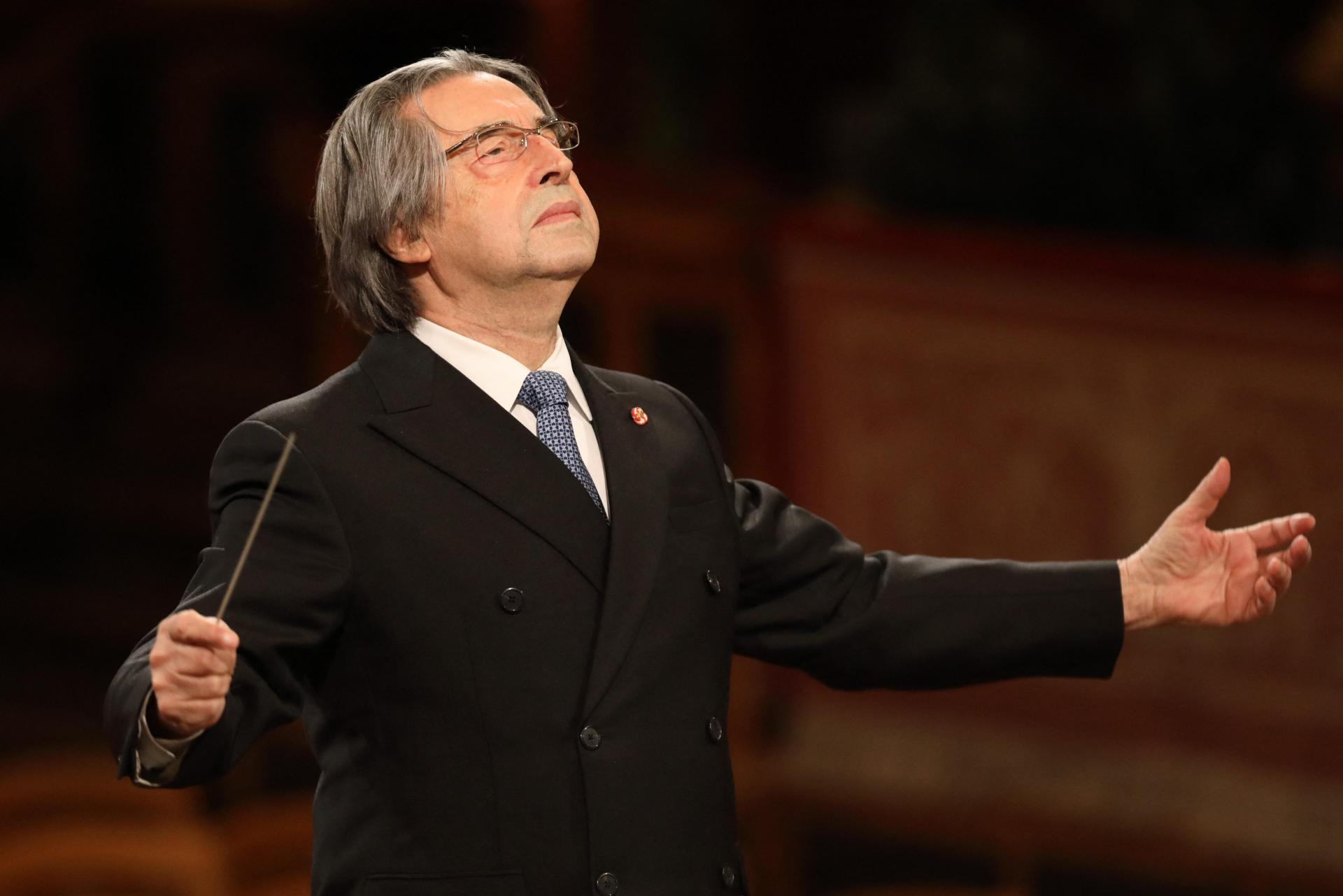 Italian conductor Riccardo Muti returns to La Scala on Tuesday for the 75th anniversary. Photo: Dieter Nagl/APA/Wiener Philharmoniker/AFP