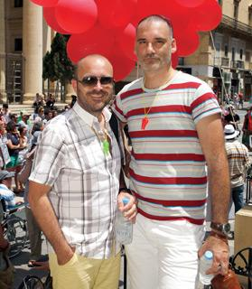 Neil Falzon, left, and Roderick Vassallo, who were married in Portugal last year.