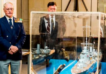 Model of wartime cruiser presented to Maritime Museum on 75th anniversary of sinking