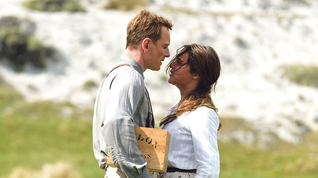 Michael Fassbender and Alicia Vikander in  The Light Between Oceans.