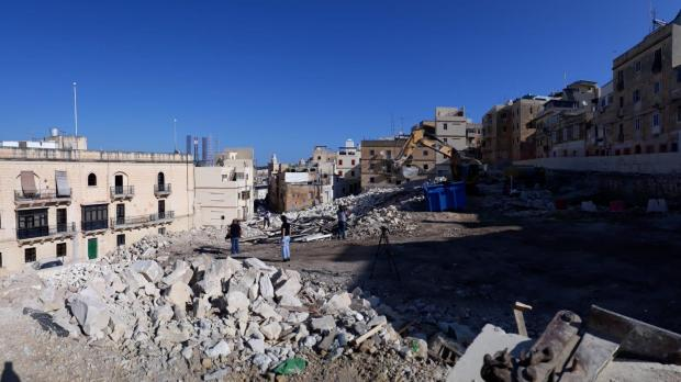 The site of a new housing project in Cospicua
