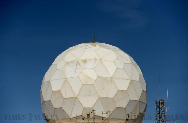 The radar in Dingli contrasts a clear blue sky on April 19. Photo: Matthew Mirabelli