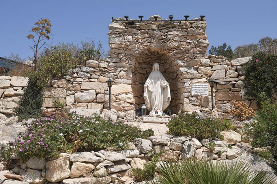 A niche with a statue of Our Lady. Photo:Matthew Mirabelli