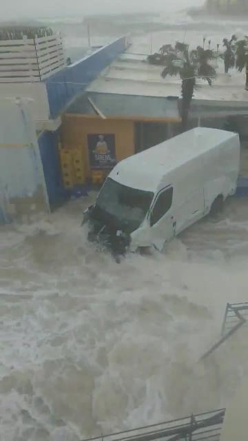 Destruction across Malta as gale-force winds batter islands | Crashing waves destroyed a van in Buġibba. Video: Gianluca Galea