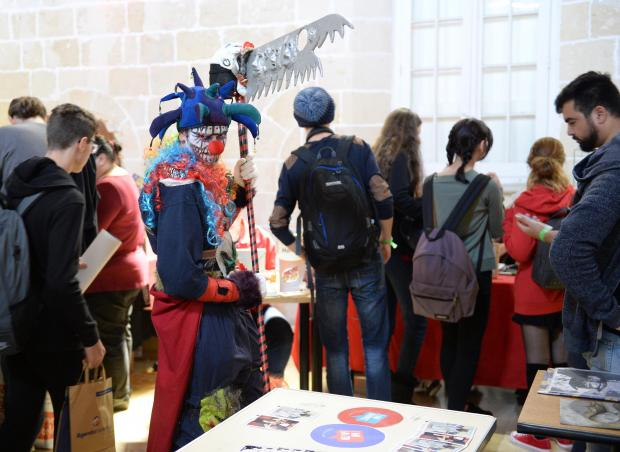 A man in costume participates in the 2017 Comic Con at The Mediterranean Conference Centre in Valletta on December 3. Photo: Matthew Mirabelli