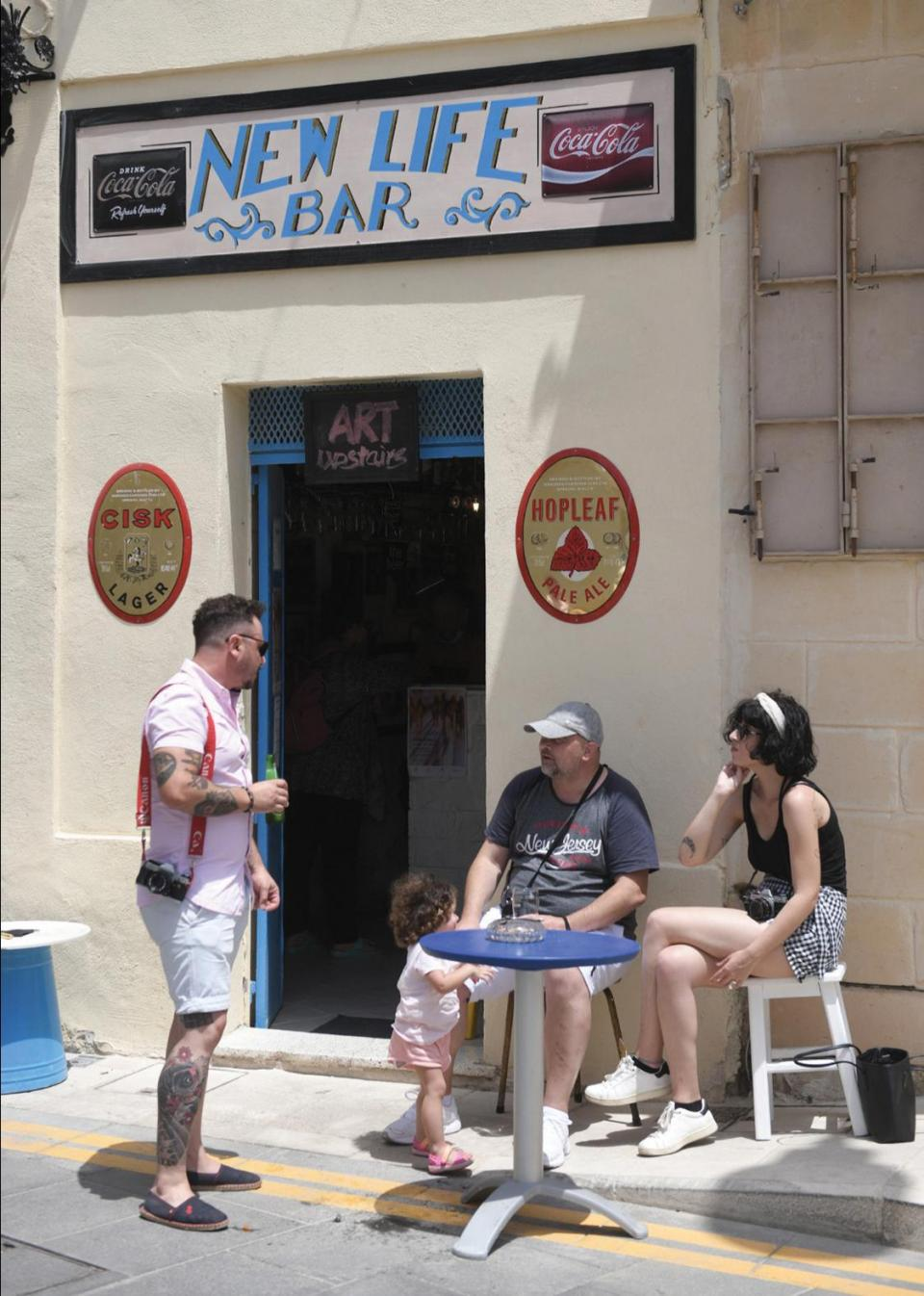 The New Life Bar, in Mqabba on Monday, as customers started to return. Photo: Matthew Mirabelli