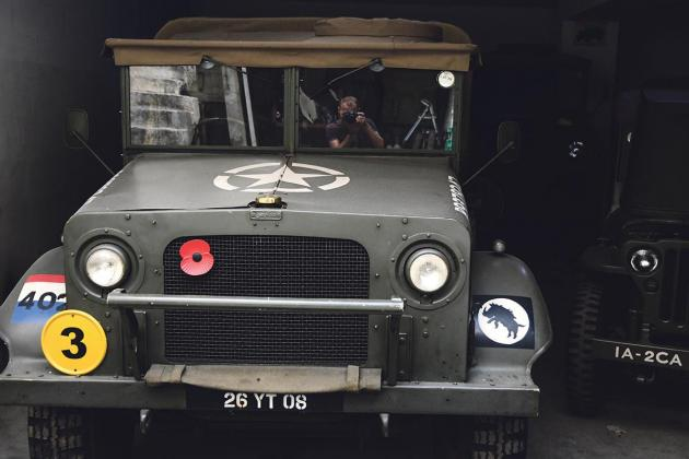 An underground treasure  trove of wartime vehicles