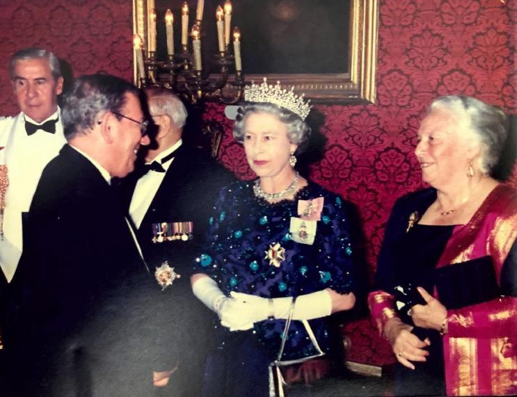 Edgar Wadge met Prince Philip in person in May of 1992 during a state dinner.