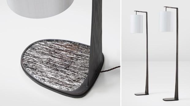 Florence table lamp. Right: Raphael floor lamps.