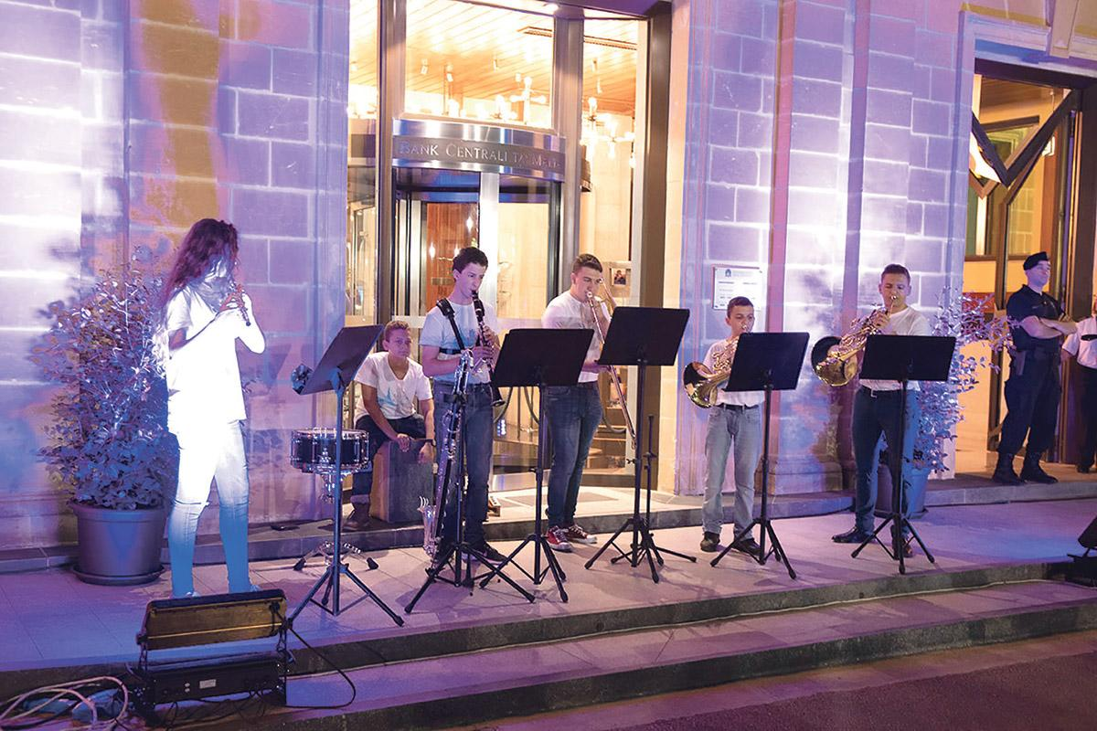 Musicians from the Malta Youth Orchestra entertaining the audience during last year's Notte Bianca.