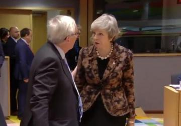 Watch: Theresa May confronts Jean-Claude Juncker at EU summit