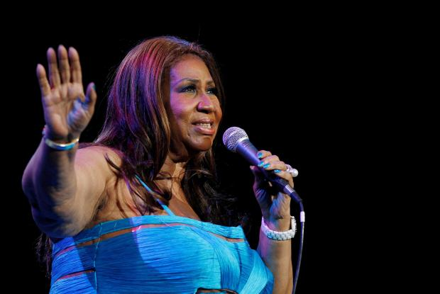 Singer Aretha Franklin performs at Radio City Music Hall in New York in 2012.