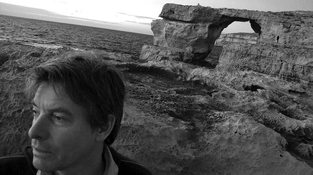 The artist at the Azure Window.