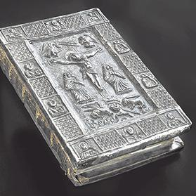 The first gospel in Malta, c. 13th century, silver covers, 1519. Courtesy of the Cathedral Museum